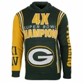 Green Bay Packers NFL Super Bowl Commemorative Hoody