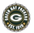 Green Bay Packers NFL Wall Decor Bottlecap Collection by Forever Collectibles
