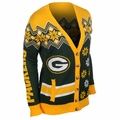 Green Bay Packers NFL Women's Cardigan Ugly Sweater