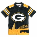 Green Bay Packers NFL Polyester Short Sleeve Thematic Polo Shirt