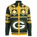 Green Bay Packers Split Logo NFL Sweater Jacket