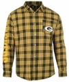 Green Bay Packers Wordmark Mens Long Sleeve Flannel Shirt