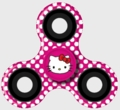 Hello Kitty 3 Way Spinner (Pink) Dots
