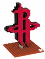 Houston Rockets NBA 3D Logo BRXLZ Puzzle By Forever Collectibles
