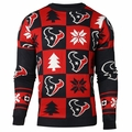 Houston Texans Patches NFL Ugly Crew Neck Sweater by Forever Collectibles