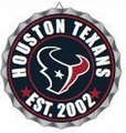 Houston Texans NFL Wall Decor Bottlecap Collection by Forever Collectibles