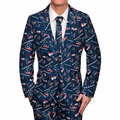 Houston Texans NFL Repeat Logo Ugly Business Suit by Forever Collectibles