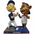 I-94 Rivalry Bernie Brewer (Milwaukee Brewers) vs Clark (Chicago Cubs) Limited Edition #/216 Bobblehead