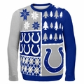 Indianapolis Colts NFL Ugly Sweater Busy Block
