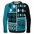 Jacksonville Jaguars NFL Ugly Sweater Busy Block