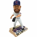 Jake Arrieta (Chicago Cubs) 2016 World Series Champions Newspaper Base Bobble Head by Forever Collectibles