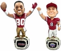 Steve Young/Jerry Rice (San Francisco 49ers) 88 and 94 Super Bowl Championship Ring Bobblehead Exclusive Set (2) #750