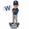 Joe Maddon (Chicago Cubs) 2016 World Series Champions Fly the W Flag Bobble Head