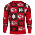 Kansas City Chiefs Patches NFL Ugly Crew Neck Sweater by Forever Collectibles