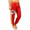 Kansas City Chiefs NFL Poly Fleece Women's Jogger Pant by Klew