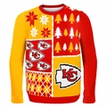 Kansas City Chiefs NFL Ugly Sweater Busy Block