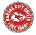 Kansas City Chiefs NFL Wall Decor Bottlecap Collection by Forever Collectibles