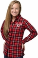Kansas City Chiefs NFL 2016 Women's Wordmark Long Sleeve Flannel Shirt