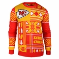 Kansas City Chiefs Patches NFL Ugly Sweater by Klew