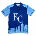 Kansas City Royals MLB Polyester Short Sleeve Thematic Polo Shirt