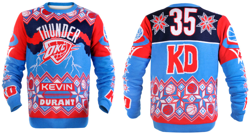 Kevin Durant (Oklahoma City Thunder) NBA Ugly Player Sweater