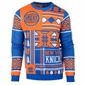 New York Knicks NBA Patches Ugly Sweater by Klew