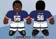 "Lawrence Taylor (New York Giants) 24"" NFL Plush Studds by Forever Collectibles"