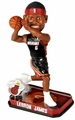 LeBron James (Miami Heat) Forever Collectibles 2014 NBA Springy Logo Base Bobblehead