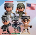 Lil' Troops Offically Licensed U.S. Army Action Figures Series 1 Complete Set (5)