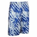 Los Angeles Dodgers MLB Repeat Print Polyester Shorts By Forever Collectibles