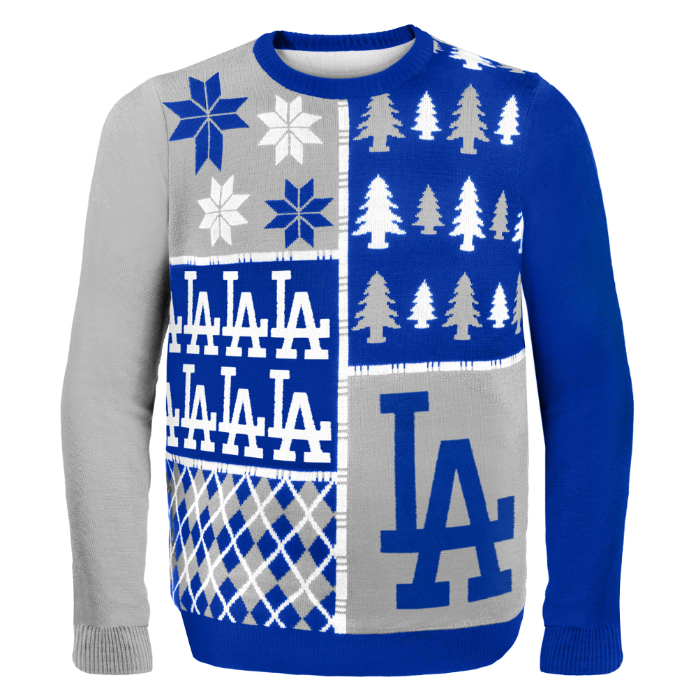 Los Angeles Dodgers MLB Ugly Sweater BusyBlock