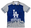 Los Angeles Dodgers MLB Polyester Short Sleeve Thematic Polo Shirt