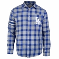 Los Angeles Dodgers Wordmark Mens Long Sleeve Flannel Shirt