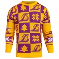 Los Angeles Lakers 2016 Patches NBA Ugly Crew Neck Sweater by Forever Collectibles