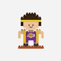 Los Angeles Lakers NBA 3D Player BRXLZ Puzzle By Forever Collectibles