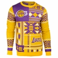 Los Angeles Lakers NBA Patches Ugly Sweater by Klew