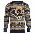 Los Angeles Rams NFL Aztec Ugly Crew Neck Sweaters by Forever Collectibles