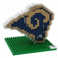 Los Angeles Rams NFL 3D Logo BRXLZ Puzzle By Forever Collectibles