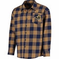 Los Angeles Rams NFL Checkered Men's Long Sleeve Flannel Shirt