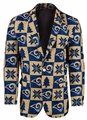 Los Angeles Rams NFL Ugly Business Sport Coat Repeat Logo by Forever Collectibles