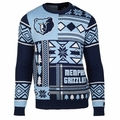 Memphis Grizzlies NBA Patches Ugly Sweater by Klew