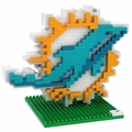 Miami Dolphins NFL 3D Logo BRXLZ Puzzle By Forever Collectibles
