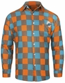 Miami Dolphins NFL Checkered Men's Long Sleeve Flannel Shirt