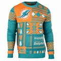 Miami Dolphins Patches NFL Ugly Sweater by Klew