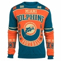 Miami Dolphins Retro Cotton Sweater by Klew