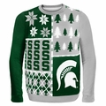 Michigan State Ugly College Sweater BusyBlock