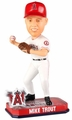 Mike Trout (Los Angeles Angels) Forever Collectibles 2014 MLB Springy Logo Base Bobblehead