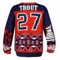 Mike Trout (Los Angeles Angels) MLB Ugly Player Sweater