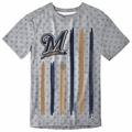 Milwaukee Brewers Big Logo Flag Tee by Forever Collectibles