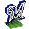 Milwaukee Brewers MLB 3D Logo BRXLZ Puzzles By Forever Collectibles